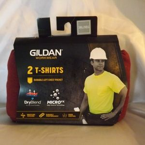 NEW Mens GILDAN Workwear T-Shirts - Maroon - 3XL